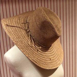Flora Bella Raffia Sun Hat with Silver Thread